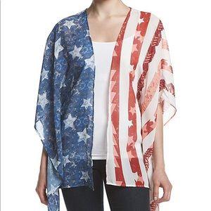 Eyeshadow | American Flag Sheer Kimono
